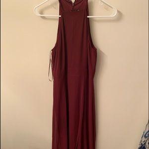 Express wine color formal dresss
